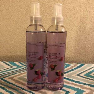 BBW sun ripened raspberry body sprays